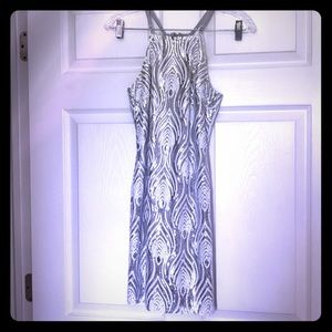 Silver and White Sequin Dress